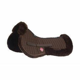 LeMieux Lambskin Pro-Sorb System (Half Pad) - Brown Wool/Brown Fabric