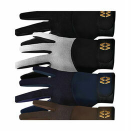 Mesh Long Cuff Gloves - Black