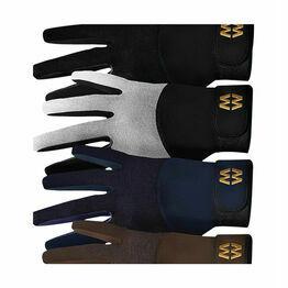 Mesh Long Cuff Gloves - Brown
