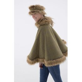 George & Dotty Melissa Full Cape - Light Olive - One Size