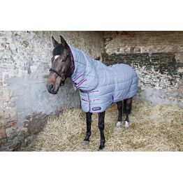 DefenceX System 300 Combi Stable Rug - Grey/Berry/Cool Blue