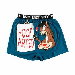 LazyOne Hoof Arted Mens Boxer Shorts - Blue
