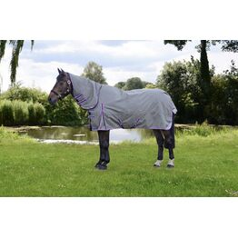 DefenceX System 300 Combi Turnout Rug - Grey/Berry/Cool Blue
