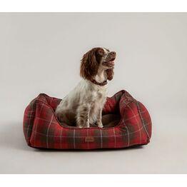 Joules Heritage Tweed Box Bed - Red