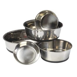House of Paws Stainless Steel Dog Bowl with Silicone Base