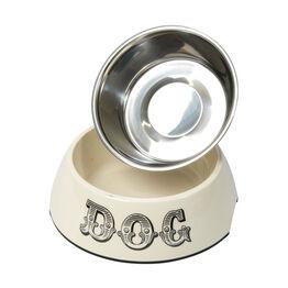 House of Paws Melamine Dog Bowl - Cream