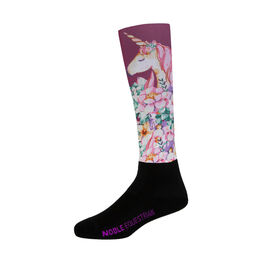 Noble Girls Printed Peddies - Over The Calf - Unicorn - One Size