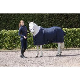 Hy Signature 100g Stable Rug - Navy/Red/Blue - 7'3