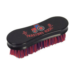 Tractors Rock Face Brush by Hy Equestrian - Navy/Red (13.9 x 6.9cm)