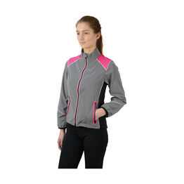 Silva Flash Two Tone Reflective Jacket by Hy Equestrian - Reflective Silver/Pink