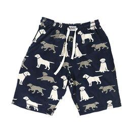 LazyOne Labrador Dogs Men's PJ Shorts - Blue