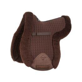 LeMieux Lambswool GP/Jumping Fully Lined Numnah - Dark Brown Wool/Brown Fabric