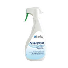 Battles All-Purpose Antibacterial Multi-Surface Sanitiser Spray - 500ml