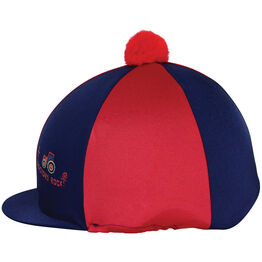 Hy Equestrian Tractors Rock Hat Cover - Navy/Red - One Size