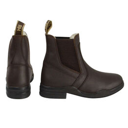 HyLAND Fleece Lined Wax Leather Jodhpur Boot - Brown