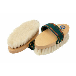 Equerry Wooden Body Brush - Goat Hair - White