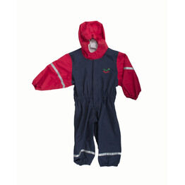 Keela Waterbug Children's Waterproof All In One Suit - Navy/Red