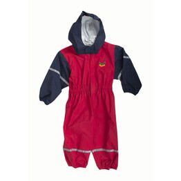 Keela Waterbug Children's Waterproof All-In-One Suit - Red/Navy
