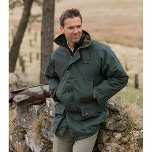 Hoggs Of Fife Men\'s Padded Waxed Jacket - Olive Green