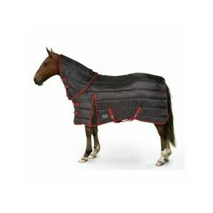 Maverick Heavy 300d Combo Stable Horse Rug - Black/Red