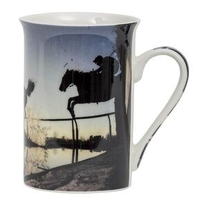Country Matters Fine Bone China mug - Racehorse over waterjump