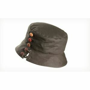 Olney OLIVIA OLIVE/RUSSETT Wax Split brim & buttons Hat