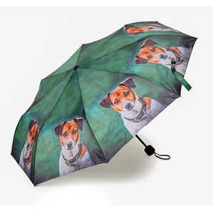 Country Matters Amber Jack Russell Mini Folding Umbrella