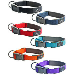 MIRO&MAKAURI Padded Nylon Dog Collars 20mm 35-40cm