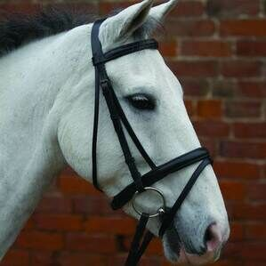 Hy Padded Flash Bridle with Rubber Grip Reins - Black