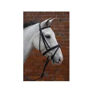 Hy Padded Flash Bridle with Rubber Grip Reins - Brown