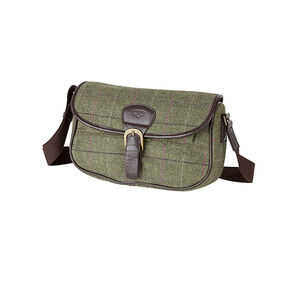 Hoggs of Fife Caledonia Ladies Tweed Cartridge-style Bag in Green multi check