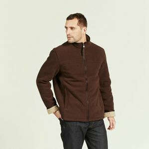 Men's Broadbill Fleece Jacket by Aigle in Mustang/Beige