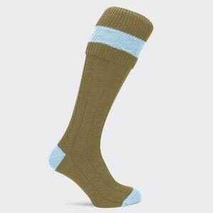 Pennine Byron Ladies Shooting Socks Baby Blue