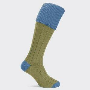 Pennine Pembroke Shooting Sock - Caspian (Blue)