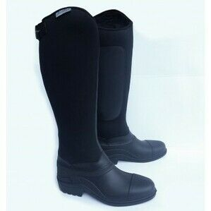 Gallop Everest Neoprene Long Riding Boots - Black