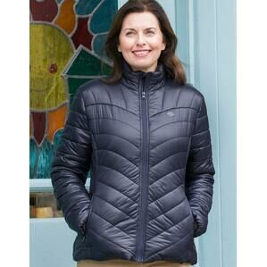 Hoggs Of Fife Wilton Ladies Padded Jacket - Navy