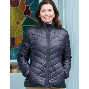 Hoggs Of Fife Wilton Ladies Padded Jacket - Navy
