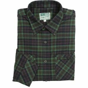 Hoggs Arran Luxury Hunting Shirt in Navy/Green