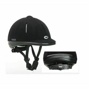 Horka Black Airstream Techno Flock Riding Hat
