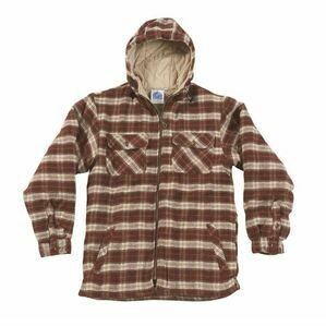 Castle Penarth Hooded Fleece Lined Shirt - Red