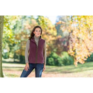 Baleno Sally Ladies Gilet Fleece - Plum