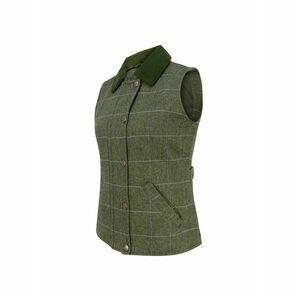 Hoggs Albany Ladies Lambswool Waistcoat (Green)