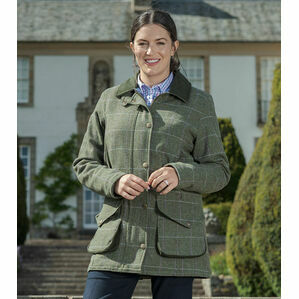 Hoggs of Fife Green Albany Ladies Lambswool Coat