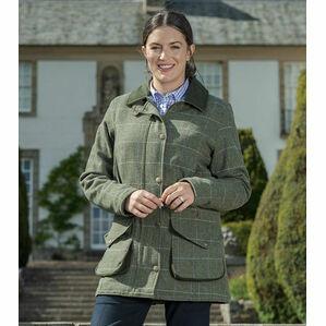 Hoggs of Fife Green Albany Ladies Lambswool Coat