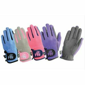 HY5 Black/Pink Child Two Tone Riding Gloves Every Day