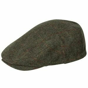 Hoggs Harewood Waterproof Lambswool Tweed Flat Cap