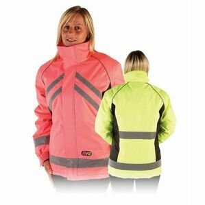 Hi Vis Waterproof Riding Jacket - Pink/Black