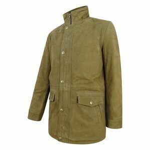 Hoggs of Fife Khaki Dunkeld Leather Field Jacket