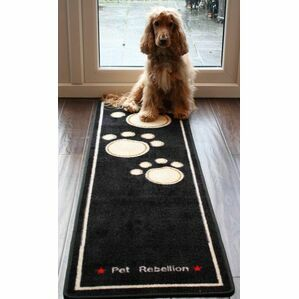 Dog Runner Extra Large Mat From Pet Rebellion - Black