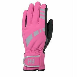 Hy5 Reflective W/P Multipurpose Gloves - Hot Pink/Grey